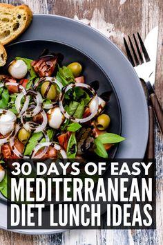 30 Mediterranean Diet Lunch Recipes for Weight Loss Diet Lunch Ideas, Lunch Recipes, Healthy Recipes, Healthy Dinners, Vegetarian Lunch Ideas For Work, Soup Recipes, Dishes Recipes, Keto Recipes, Easy Mediterranean Diet Recipes
