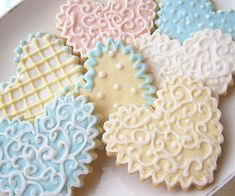 Valentine Cookies Heart Shabby Chic Sugar by SugarMeDesserterie, $23.95