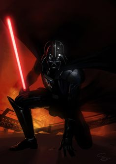 Darth Vader by Simon Lissaman, via Behance
