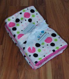 Baby Burp Cloths/Minky Pink Polka Dots/ by DarlenesNeedlesnPins
