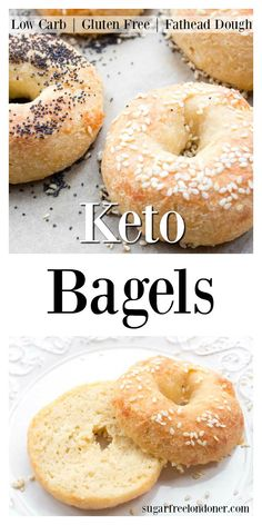 You'll love these soft and chewy Keto bagels! This easy low carb bagel recipe is made with Fathead dough, which means it's gluten free and grain free. Keto breakfast has never been more delicious. #bagels #lowcarb #keto via @sugarfreelondon