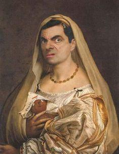 Mr Bean Photoshop, Funny Photoshop, Art Memes, Funny Profile Pictures, Funny Pictures, Aesthetic Art, Aesthetic Pictures, Mr Bean Funny, Tableau Pop Art