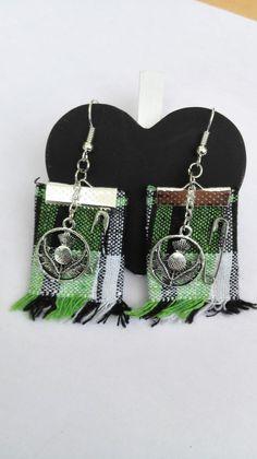 Boucles d'oreilles Outlander chardon Ecosse kilt vert Irlande argenté féérique Jamie Claire Fraser : Boucles d'oreille par miss-perles