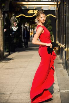 Jenna B Kelly models french fashion brand Paule Ka on the Upper East Side of Manhattan as the brand prepares to open its 1st New York store on Madison Ave.