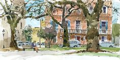 [ By Shari Blaukopf in Savannah, Georgia ] I spent my spring break sketching in beautiful Savannah and Palmetto Bluff. On the way home the a...