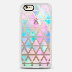 New standard #Pastel Aztec watercolor - New Standard iPhone 6/6S #Protective Case in Clear and Clear by @martaolgaklara #phonecase | @casetify