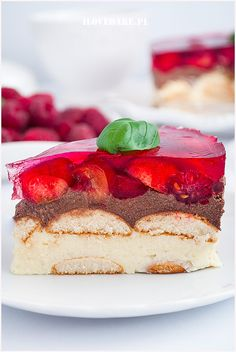 Ciasto lodowiec - I Love Bake Calzone, Oreo, Panna Cotta, Cheesecake, Sweets, My Love, Ethnic Recipes, Desserts, Weddings