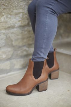 1e5656e2cfef5 SS19 Chelsea Boot Duo Boots, Leather High Heels, Tan Leather, Chelsea Ankle  Boots