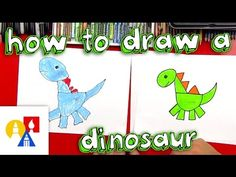 How To Draw A Dinosaur With Shapes - Art for Kids Hub
