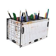 Porta Treco Container Branco - StickDecor | Decoração Criativa