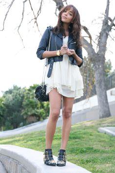 dress c/o Millau...boots c/o Chloe