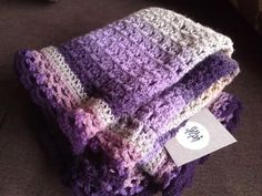 A Crochet Baby Blanket made out of wool yarn in by SylphDesigns, €50.00