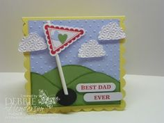 Stampin' Up!  Pennant Punch  Debbie Henderson  Golf Flag