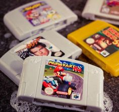Nintendo 64 cartridge soaps. This is crazy cool! #gaming #gifts