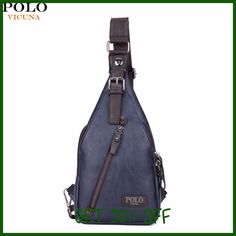 VICUNA POLO Famous Brand Theftproof Magnetic Button Open Leather Mens Chest Bags Fashion Travel Crossbody Bag Man Messenger Bag