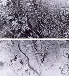 Before and after of Nagasaki, August 1945.