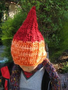 Gnome Hat pattern by Syrendell $4.50 Tunisian Crochet