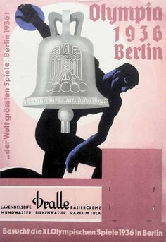 Visit Berlin 1936 at the XI Olympic Games Anonym Ddr Brd, Berlin Olympics, Leni Riefenstahl, Propaganda Art, Cold Brew Coffee Maker, Sports Art, Summer Olympics, Vintage Travel Posters, Olympic Games