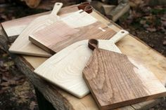 Chopping and serving boards all rippled/olive Ash.