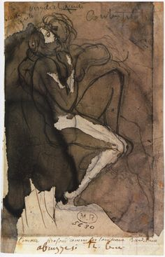 """animus-inviolabilis: """" The circle of loves c. 1885 Auguste Rodin Annotated, top: Françoise Paolo / Virgile and Dante / Contemplations; below:, on support: l'amour profond comme les tombeaux Baudelaire. Auguste Rodin, Musée Rodin, Life Drawing, Figure Drawing, Drawing Sketches, Art Drawings, Rodin Drawing, Painting & Drawing, Camille Claudel"""