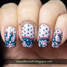 Vic and Her Nails: The Digital Dozen Does Decades - Day 4: Floral