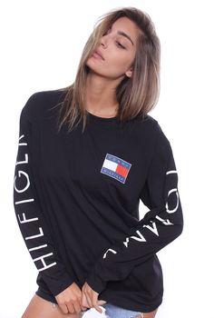 Vintage Tommy Hilfiger Spellout Sweatshirt Sz10-12