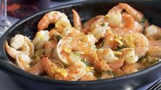 Garlicky Shrimp with Basil - Recipe - FineCooking