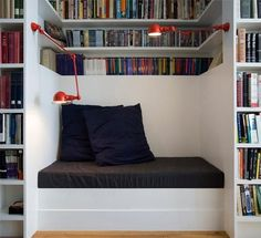 built-in reading nook