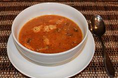"""Creamy"" Tomato Chicken Soup Posted June 7, 2012 | Tags: chicken, coconut milk, dairy free, gluten free, grain free, mushroom, Paleo, refin..."