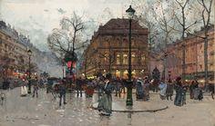 Eugène Galien-Laloue Paris Boulevard Saint-Martin Matinée à L'Ambigu 1909 - Kategória: Festmények párizsi utcák Eugène Galien-Laloue - Wikimedia Commons