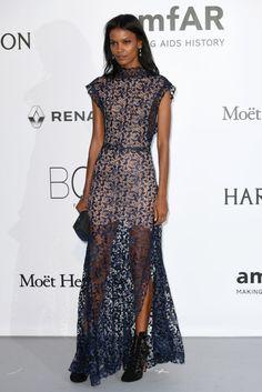 Liya Kibede amfAR Gala Red Carpet Gowns - amfAR 2016 Gala Celebrity Dresses