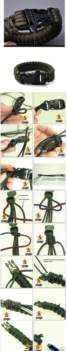 How to make a 550 Cord Bracelet the right way so u can use it again!
