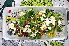 Papu-pekonisalaatti - Reseptit - Ilta-Sanomat Cobb Salad, Green Beans, Vegetables, Food, Essen, Vegetable Recipes, Meals, Yemek, Veggies
