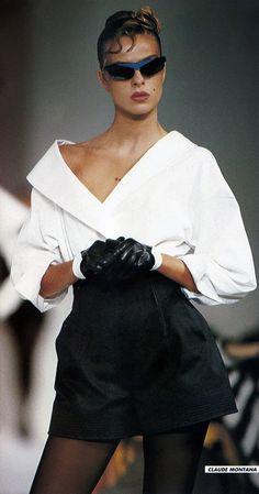 Daniela Azzone for Claude Montana Fashion Show, Spring/Summer 1988