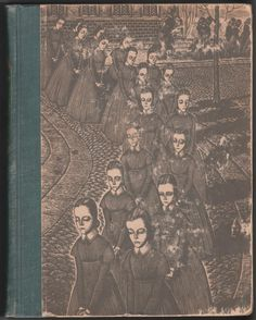 Jane Eyre by Charlotte Brontë with wood engravings by Fritz Eichenberg. Hardback, F/G: Front endpaper removed, while the covers show noticeable wear, the interior pages are quite clean, especially all the illustrated plates, which are the main focus of this edition, 1943, Random House, size 7.75 x 10 inches, 350 pages plus last endpaper, O/P edition. $5 Charlotte Bronte, Jane Eyre, Random House, Wood Engraving, Book Pages, Fiction Books, Illustration, Artwork, Painting