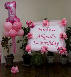 1000 images about decorate with balloons on pinterest for Balloon decoration for first birthday