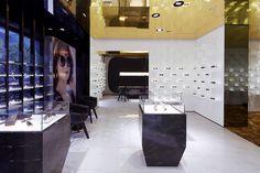 Bolon Eyewear, Shanghai. Ein Projekt von Ippolito Fleitz Group – Identity Architects, Decken.