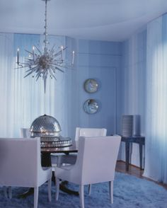 Walls by Willem Racke, Chandelier & Sconces by Bob Russell NYC  Geoffrey De Sousa Interior Design