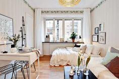 Best Room Layout Ideas Tiny Studio Apartment 17 Studio Layout, Studio Apartment Layout, Studio Setup, Studio Ideas, Studio Apartment Living, Apartment Therapy, One Room Apartment, Design Apartment, Cozy Apartment