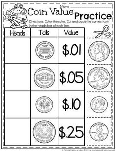 Money Worksheets - Planning Playtime