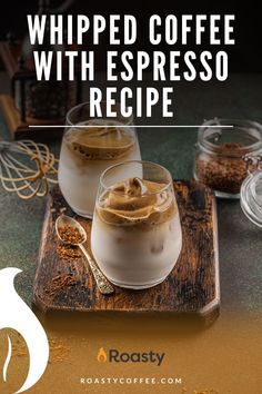 I'm pretty sure you've heard of whipped coffee. If you haven't, get on the bandwagon already! This recipe uses espresso instead of the usual ground coffee. Probably only a good recipe for all the REAL coffee lovers out there. #coffee #espresso #whippedcoffee Espresso Recipes, Coffee Drink Recipes, Coffee Drinks, Spanish Coffee, Coffee Brownies, Vietnamese Iced Coffee, Real Coffee, Latte Recipe, Ground Coffee