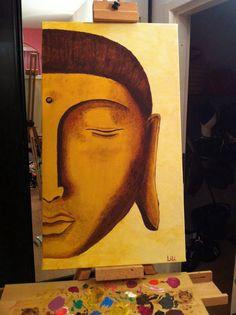 Buddha face paint