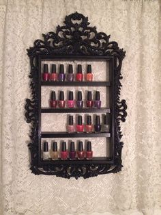 Nail polish storage antique, but I would use it for perfume in stead <3