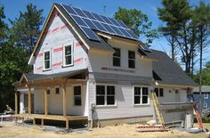 Construction of Appledore NetZero Home model with Kieser Home builders
