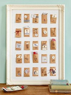 advent calendars! i've always loved these! put in little love notes for my love...