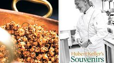 """Spicy Sesame Kettle Corn    Recipe adapted from """"Hubert Keller's Souvenirs: Stories and Recipes from My Life"""" by Hubert Keller (Andrews McMeel)      Read more: http://www.purewow.com/entry_detail/recipe/4192/Kettle-corn-gets-a-burst-of-flavor.htm#ixzz2J6iLggsc"""