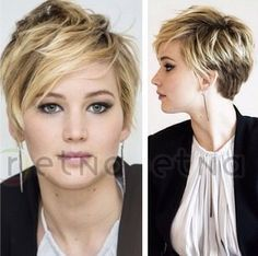 Most Popular Short Hairstyles for Summer: Layered Haircut - Liking the highlights... I couldn't go this light, but lighter than what I have might be fun.