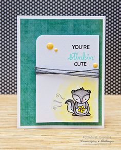 Card critters skunk Lawn Fawn You´re stinkin´ cute Stinking cute Lawnscaping Challenge