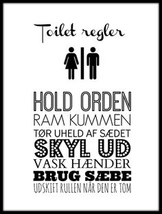 Toiletregler - hvid Moving In Together, Wall Decor Quotes, Word 2, Pep Talks, Word Pictures, Some Words, Best Memes, Poems, Lyrics