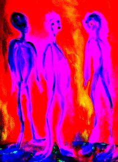 he met me  with a smack on each cheek,  I did not answer it  I wondered,  but you rather answered  to questions  I had not yet thought of.  Perhaps this is also the case  with the images. I remember  luminous figures,  riders,  winged beings  and centaurs,  as from  another dimension
